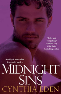 Midnight Sins Book Cover, written by Cynthia Eden
