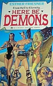 Here Be Demons Book Cover, written by Esther Friesner