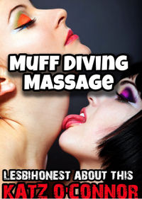 Muff Diving Massage eBook Cover, written by Katz O'Connor