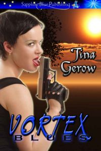 Vortex Blues Original eBook Cover, written by Tina Gerow