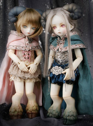 Glot and Glati Dolls manufactured by Soom Workshop