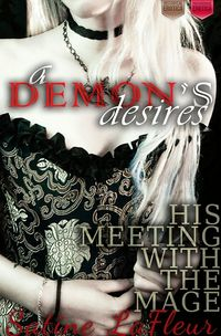 A Demon's Desires: His Meeting with the Mage eBook Cover, written by Satine LaFleur