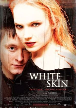 Movie Poster for the english language release of the movie White Skin, originally titled in french, La peau blanche