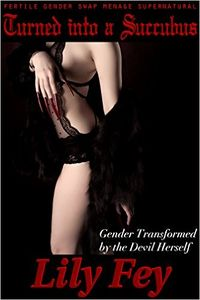 Turned into a Succubus: Gender Transformed by the Devil Herself eBook Cover, written by Lily Fey