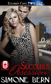 Succubus Obsession Original eBook Cover, written by Simone Bern