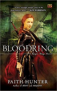 Bloodring: A Rogue Mage Novel Book Cover, written by Faith Hunter