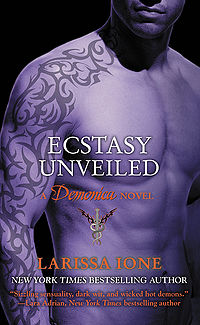 Ecstasy Unveiled Book Cover, written by Larissa Ione
