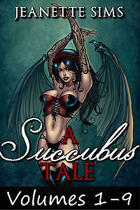 A Succubus Tale: Volumes 1-9 eBook Cover, written by Jeanette Sims