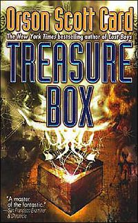 Treasure Box Paperback Cover, written by Orson Scott Card