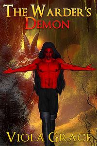 The Warder's Demon eBook Cover, written by Viola Grace