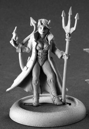 Supervillain Devil Girl Figurine by Reaper Miniatures
