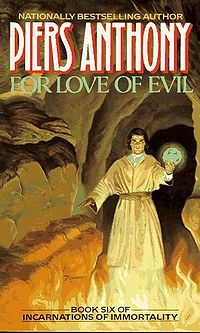 For Love of Evil Book Cover, written by Piers Anthony
