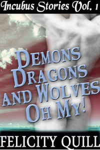 Incubus Stories Volume 1: Demons, Dragons and Wolves, Oh My! eBook Cover, written by Felicity Quill