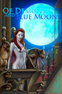 Of Demons and Blue Moons eBook Cover, written by Andy Farman