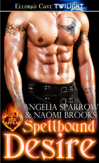 Spellbound Desire Book Cover, written by Angelia Sparrow and Naomi Brooks