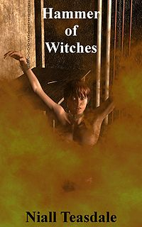Hammer of Witches eBook Cover, written by Niall Teasdale