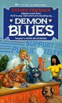 Demon Blues Book Cover, written by Esther Friesner