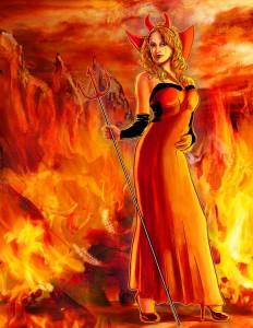 Female Devil by Unknown Artist