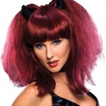Red Wig Black Horns