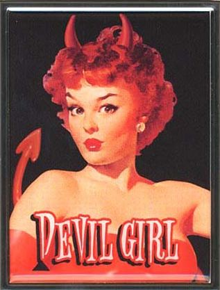 Devil Girl retro Cigarette case by Retro-A-Go-Go