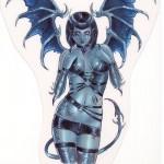 Succubus Blue by Delphine Levesque Demers