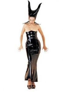 Shiny Black Succubus Costume