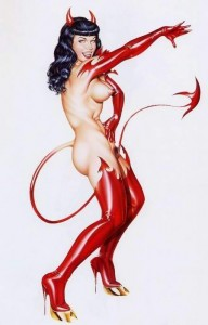 Betty Page Succubus by Armando Huerta