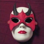 Demoness Leather Fetish Mask