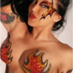 Flame Body Art