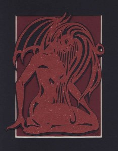 Succubus (Cut Paper) by Shannon Reinbold-Gee