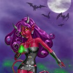 Halloween Devil Girl by Therese L. Davis