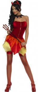 Fever Naughty But Nice Reversible Devil and Angel Costume