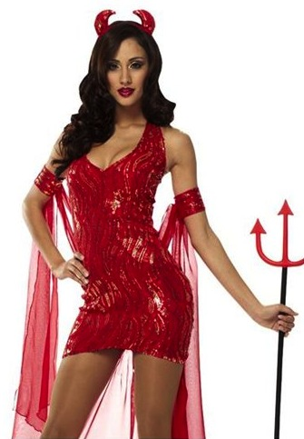 She Devil Mini Dress Costume