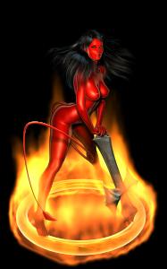 Burning Halo By Darthhell