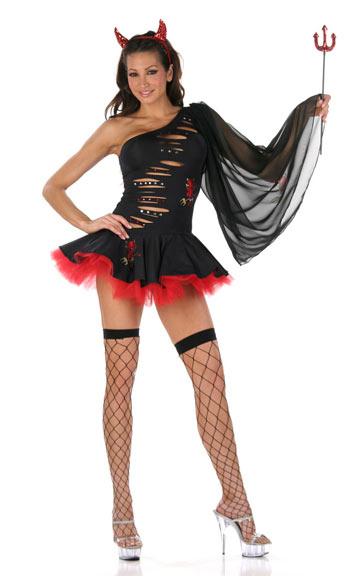 Trendy Devil Zipper Dress