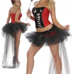 Hot Devil Four Piece Bustle Tulle Skirt Set