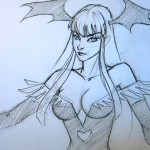 Morrigan Pencil Art by Xia Taptara