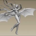 3D Morrigan by Bhaalthiel