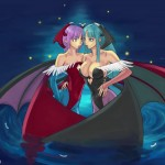 Lilith and Morrigan Aensland by KonaChan
