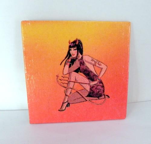 Devil Girl Fridge Magnet by Sybillinart