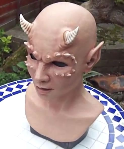 Latex Succubus Mask by CFX