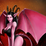 Succubus Drawing Coloured by Kangaroo King