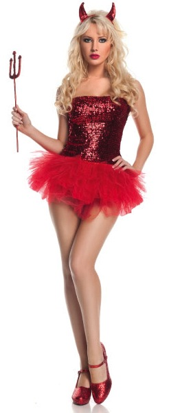 Sexy Sequins Devil Costume