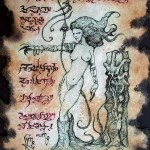 Succubus Demon Witch of the Wasteland Necronomicon Fragment by Zarono