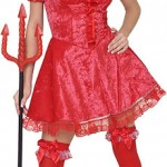 Adult Laced Devil Costume