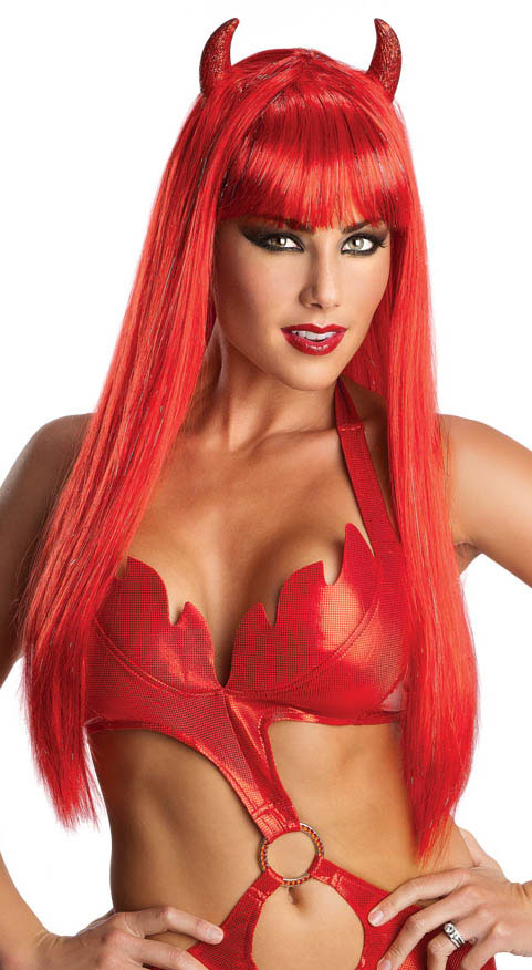 Sexy Glam Devil Woman Wig