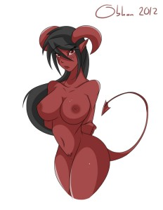 Demon Pinup by Obhan