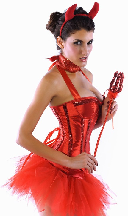 Red Shining Devil Cosplay Fancy Dress Costume