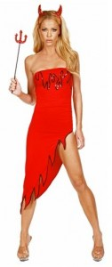 Devil Dress with Sequins
