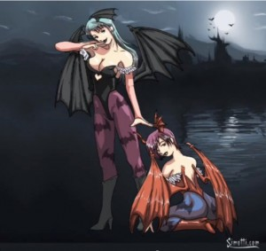 Morrigan and Lilith Aensland Art